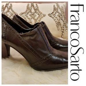 Franco Sarto brown leather heels size 8